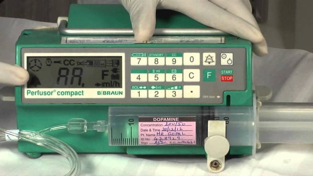 contoh penggunaan syringe pump